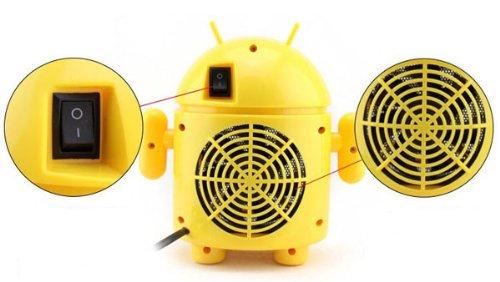 Desktop Mini Portable Robot Mute Energy-Saving Electric Heater Fan