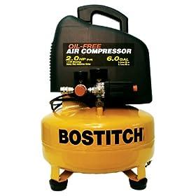 Bostitch CAP2060P 10.5 Amp 2-Horsepower 6-Gallon Oil-Free Pancake Compressor