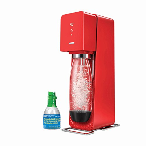 SodaStream Source Home Soda Maker Starter Kit, Red