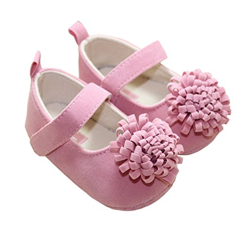Tanzky® Baby Shoes Coral Design Baby Pre-Walker Infant Shoes Flower Footwear Sandals (L 9-12Months) front-27607