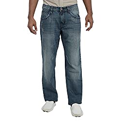 Inego Men's Casual Slim Fit Jeans (Blue )