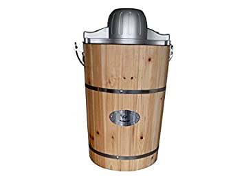 Sorbeti re lectrique givreto en bois bois 5 5 l cuisine maison ma - Sorbetiere en bois traditionnelle ...