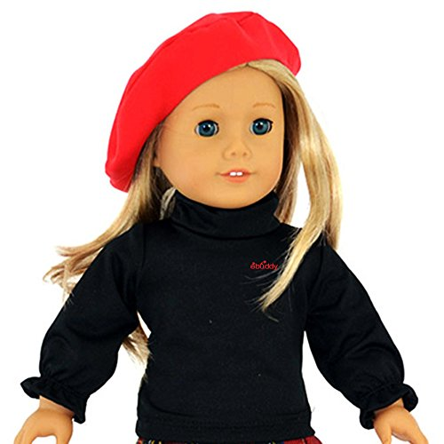Ebuddy 3pc Skirt School Outfit Clothes Fits 18 Inch Girl Doll