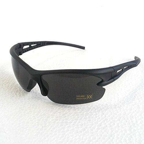 スポーツ サングラス★超軽量 UV400 紫外線カット★輸入品 (ブラック)