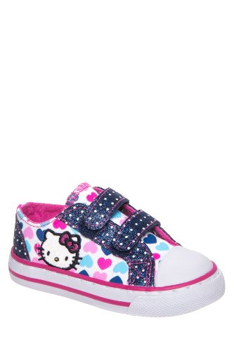 Hello Kitty Kid's Lil Poppy Hook & Loop Low Top Sneaker