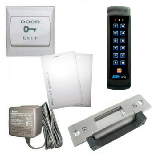 Rfid Backlit Mullion Keypad With Heavy Duty Electric Door Strike