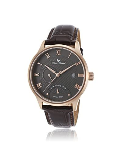 Lucien Piccard Men's LP-10339-RG-014-BRW Dark Brown/Gunmetal Genuine Leather Watch
