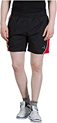 GOOD LUCK U.S.A Men's Polyester Shorts (S-0004C, BLACK, XL)