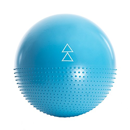 The Exercise Ball by Yoga Design Lab. Studio quality, dual-sided, non-slip, anti-burst technology. Designed to help you love all your barre, pilates, yoga & other fitness ball exercises. 65cm (Ocean)