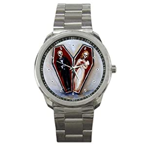 Limited Edition Nero Corvo Sports Watch Goth Love Coffin