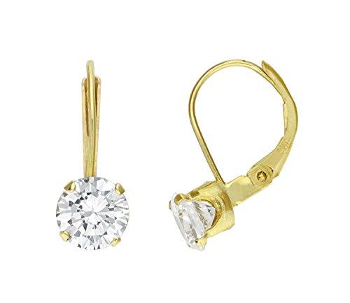 9ct gold leverback earrings