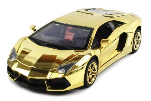 Best Diecast Lamborghini Aventador Electric RC Car 1:18 Durable Metal Body RTR (Gold Edition)  Best Offer
