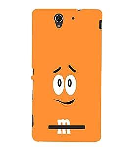 EPICCASE orange eyes cartoon Mobile Back Case Cover For Sony Xperia C3 (Designer Case)