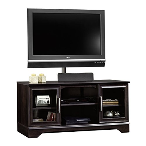 Sauder Panel Tv Stand with Post Mount Estate, Black (Sauder Tv Stand With Mount compare prices)