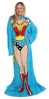Wonder Woman Comfy Throw - DC Comics Fleece Blanket Sleeves