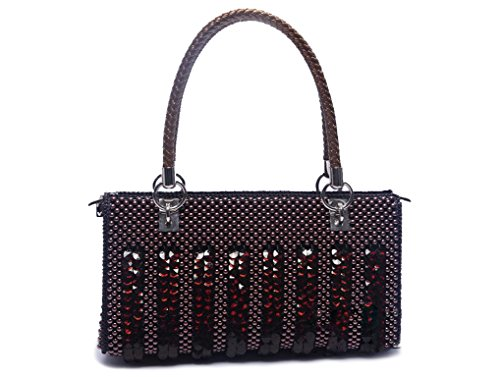 Women Handmade Purse Bag Durable,Clutch Evening Black,Shoulder Lady Satchel Medium