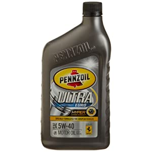 Pennzoil 550022576 ultra 5w 40 european full for 5 w 40 motor oil