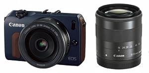 Canon デジタル一眼カメラ EOS M(ベイブルー) ダブルレンズキット EOSMBL-WLK