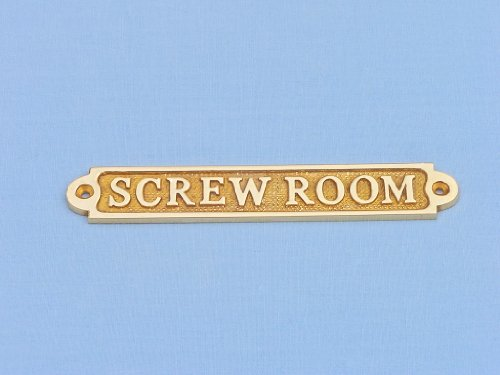 "Brass Screw Room Sign 5"" Nautical Theme Rooms Nautical Home Decorating Ideas - Brand New"