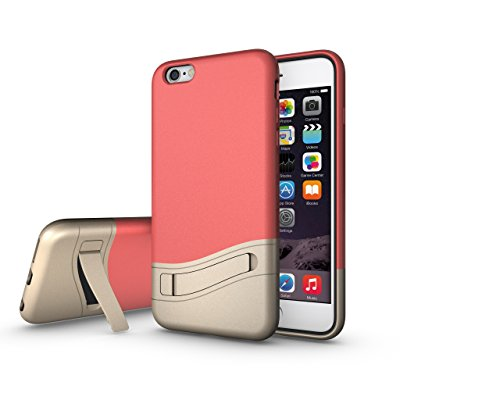iPhone 6S Plus Case - KAMII [Kickstand] Hybrid High Impact iPhone 6/6S Plus Case (5.5 Inch) SOFT-Interior with Vibrant Color Slider Style Hard Protective Cases for iPhone 6 Plus (Champaign Gold)