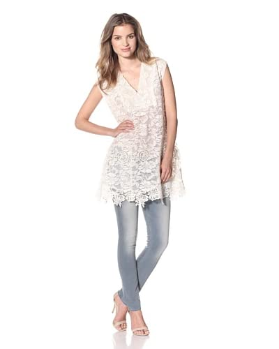 Anna Sui Women's Mixed Lace Top