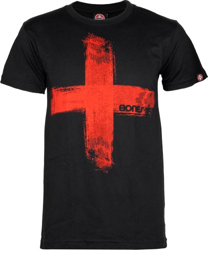 "Bones Bearings Swiss ""Templar"" T-Shirt Black Small"