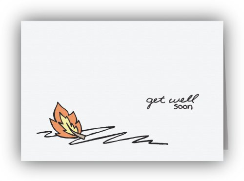 Fallen Leaf Get Well Soon Cards