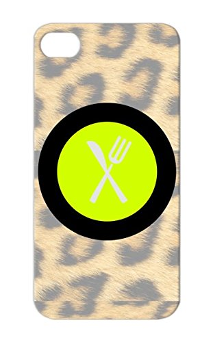 Plate Yellow For Iphone 5/5S Cooking Fork Eat Symbols Grill Dishes Serve Food Plate Shapes Dinning Waiter Bbq Set Place Setting Cookout Apron Restaurant Table Setting Cook Chef Knife Protective Hard Case