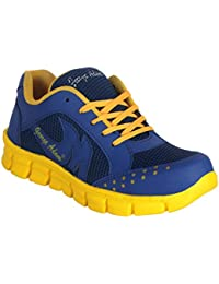 George Adam Men'S Blue Synthetic +Mesh Sports Shoes