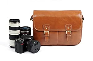 Cosmos Brown Pu Leather Vintage Camera Shoulder Carrying Protection Bag 113