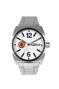 Superdry SD008SLWH - Reloj de caballero de cuarzo color plata