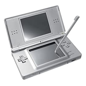 Nintendo DS Metallic Silver in full view