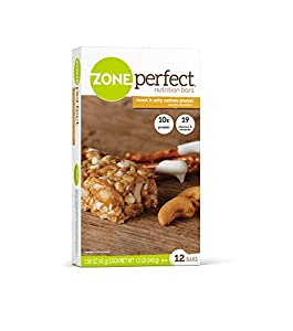 ZonePerfect Sweet N' Salty Cashew Pretzel, 1.58 oz. Bars, 12 Count