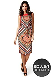 Per Una Scarf Print Shift Dress with Belt