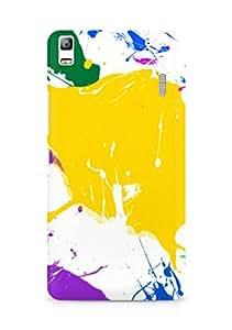 Amez designer printed 3d premium high quality back case cover for Lenovo K3 Note (Paint Splatter Colorful)