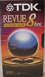 TDK Revue Standard Grade T-160 8 hour VHS Video Cassette Tape