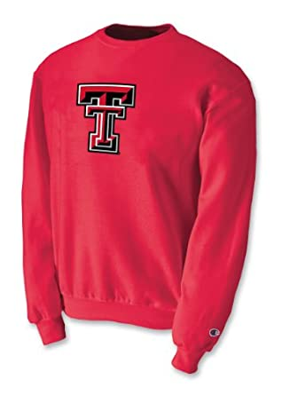Champion NCAA Unisex Adult Texas Tech Red Raiders Powerblend Crew (Scarlet, XLarge) by Champion