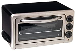 KitchenAid KCO1005OB 1/2-Cubic-Foot 6-Slice Countertop Oven, Onyx Black