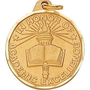1 1/4 Inch Bronze Lamp Of Learning Medal