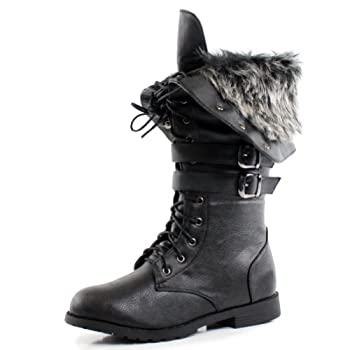 Brrr…itâ€TMs going to be cold this winter but you wonâ€TMt be with these faux fur fold-over boots on! If you are looking for the perfect pair of winter boots, look no further because there is nothing better than these lace-up flat boots. These mid-...