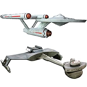 Star Trek USS Enterprise NCC-1701 and Klingon D7 Battle Cruiser Model Kits