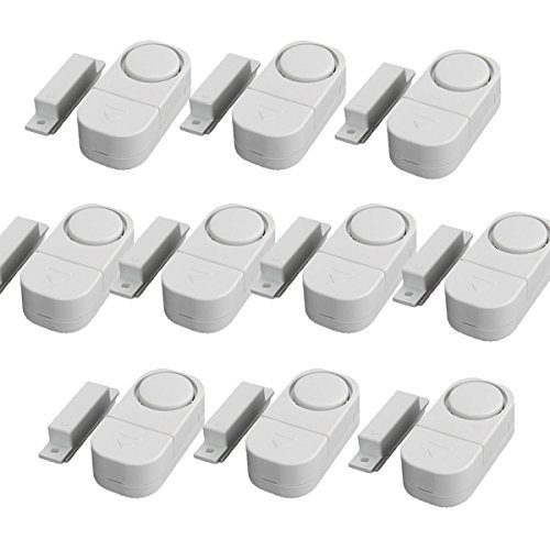 GetTen 10Pcs Wireless Home Door Window Burglar DIY Safety Security ALARM System Magnetic Sensor (Security Alarm Sensor compare prices)