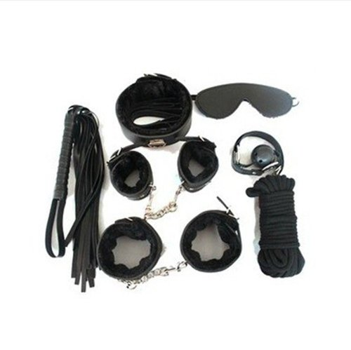 Buy Fetish Kink Bondage Restraint Beginner Complete Gear Cuffs Shackles Sex Toy (Black)