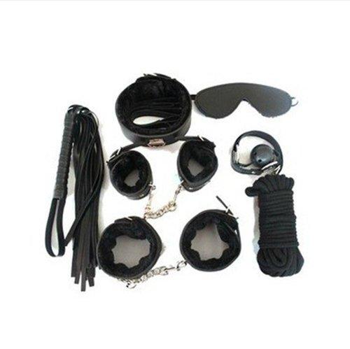 Buy Fetish Kink Bondage Restraint Beginner Complete Gear Cuffs Shackles Sex Toy (Black)