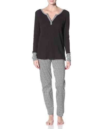 40 Winks Women's V-Neck Longsleeved Pajama Set