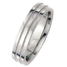 buy 950 Platinum 6Mm Flat Park Avenue Wedding Band Ring Heavy Weight - Size 6.5