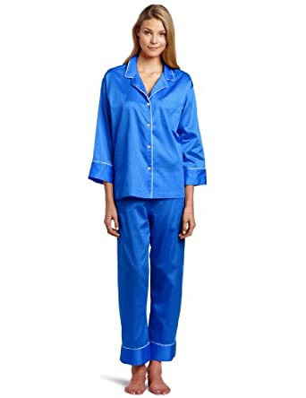Natori Women's Essence Pajama Set, Perse Blue, X-Small