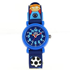Baby Watch Jungen-Armbanduhr Lernuhr Kunststoff blau MPM Foot 019