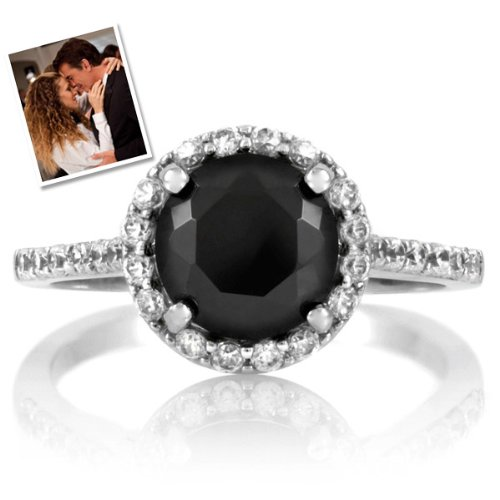 Carrie's Faux Black Diamond Ring - Inspired by Sex & the City 2
