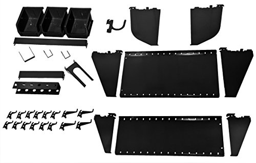 Wall Control KT-400-WRK B Slotted Tool Board Workstation Accessory Kit for Wall Control Pegboard Only, Black (Wall Control Board compare prices)
